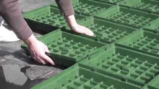 видео Достоинства и недостатки газона в рулонах