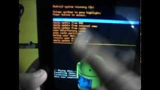Tutorial para restaurar tablet acer , formatear tablet acer , recupera tablet acer