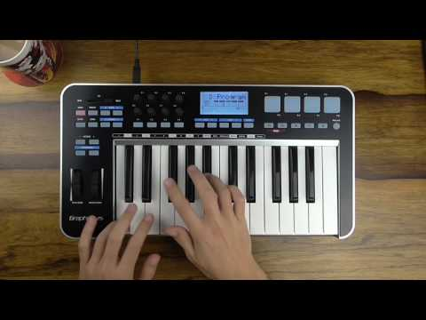 Testing Samson Graphite 25 Keys MIDI Keyboard Drumming With EZ Drummer 2