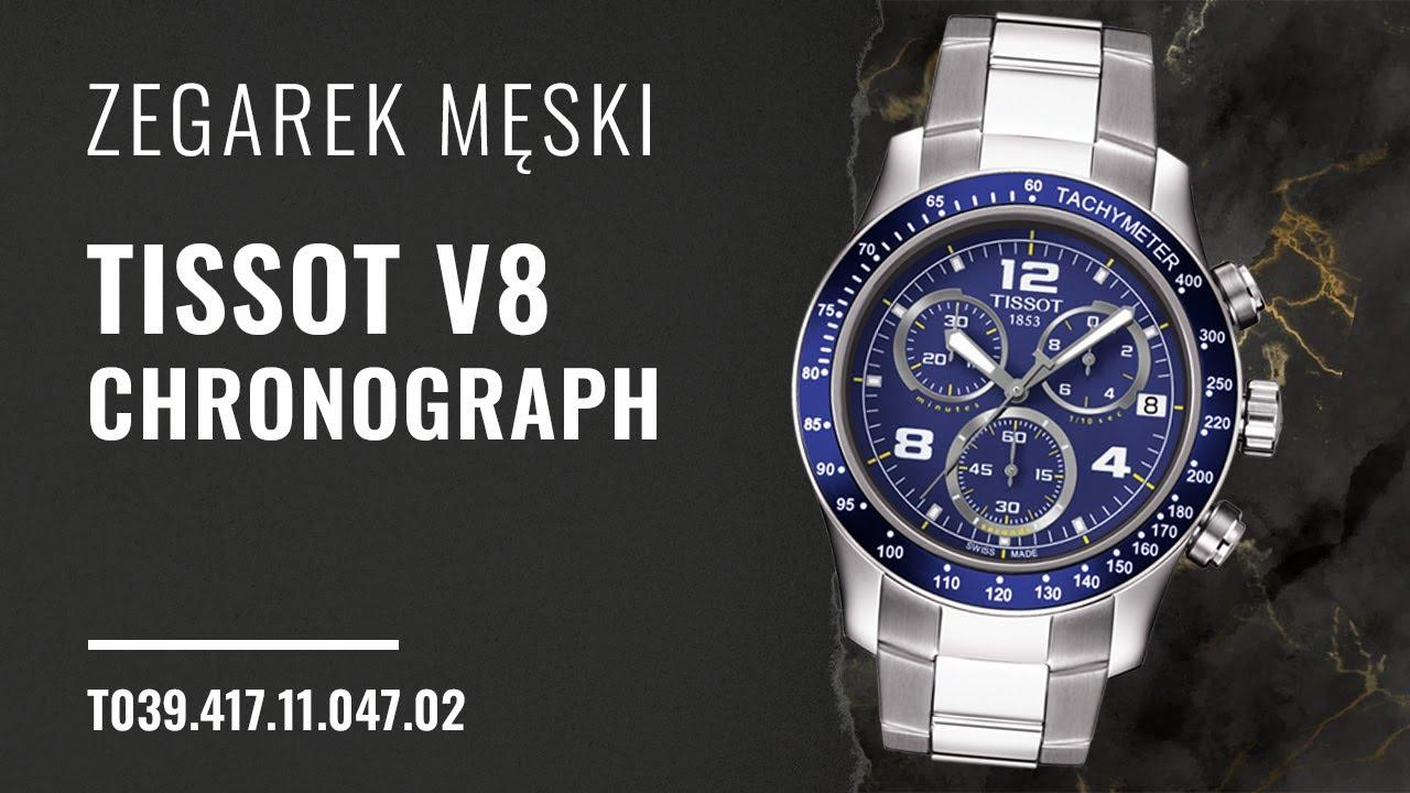 Zegarek Tissot V8 Chronograph T039 417 11 047 02 Zegarownia Pl