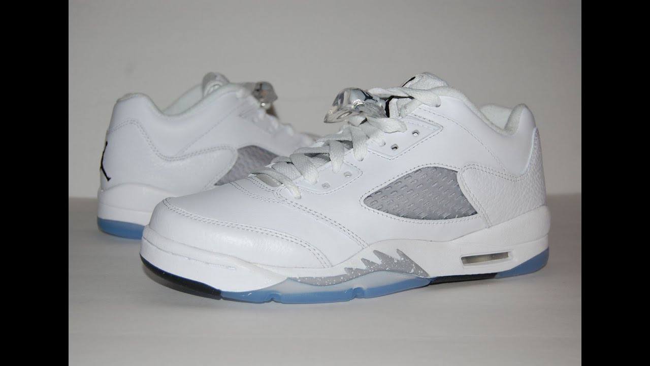 best service 786bd 16c45 ... germany air jordan 5 low gs white wolf grey youtube 62474 b739b