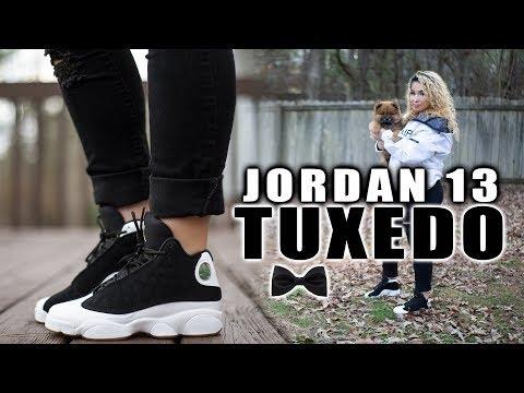 """JORDAN XIII 13 """"Tuxedo"""" Review + On Foot"""