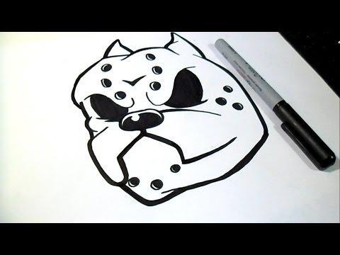 How to draw pitbull graffiti
