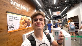 IL SUPERMERCATO DEL FUTURO SENZA CASSE: Amazon GO a New York