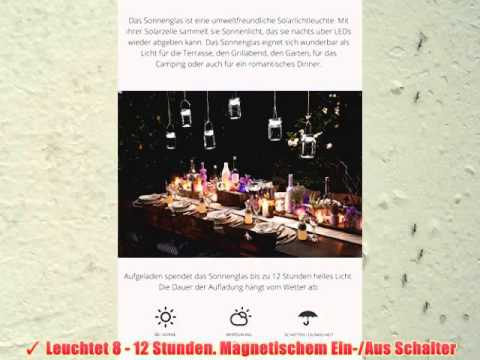 sonnenglas solarlampe im einmachglas mit henkel u 4 leds youtube. Black Bedroom Furniture Sets. Home Design Ideas