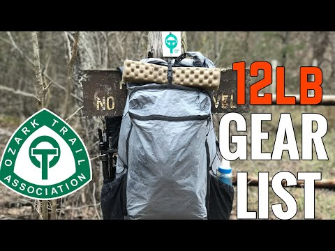 My Ozark Trail Gear List (12 lbs)