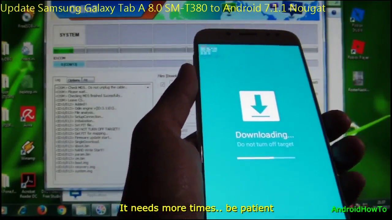 Update Samsung Galaxy Tab A 8 0 SM-T380 to Android 7 1 1 Nougat