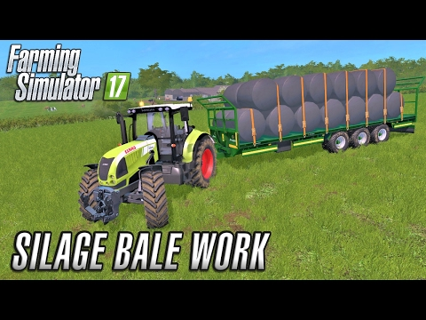Farming Simulator 2017 | SILAGE BALE WORK | Coldborough Park Farm | Episode 17