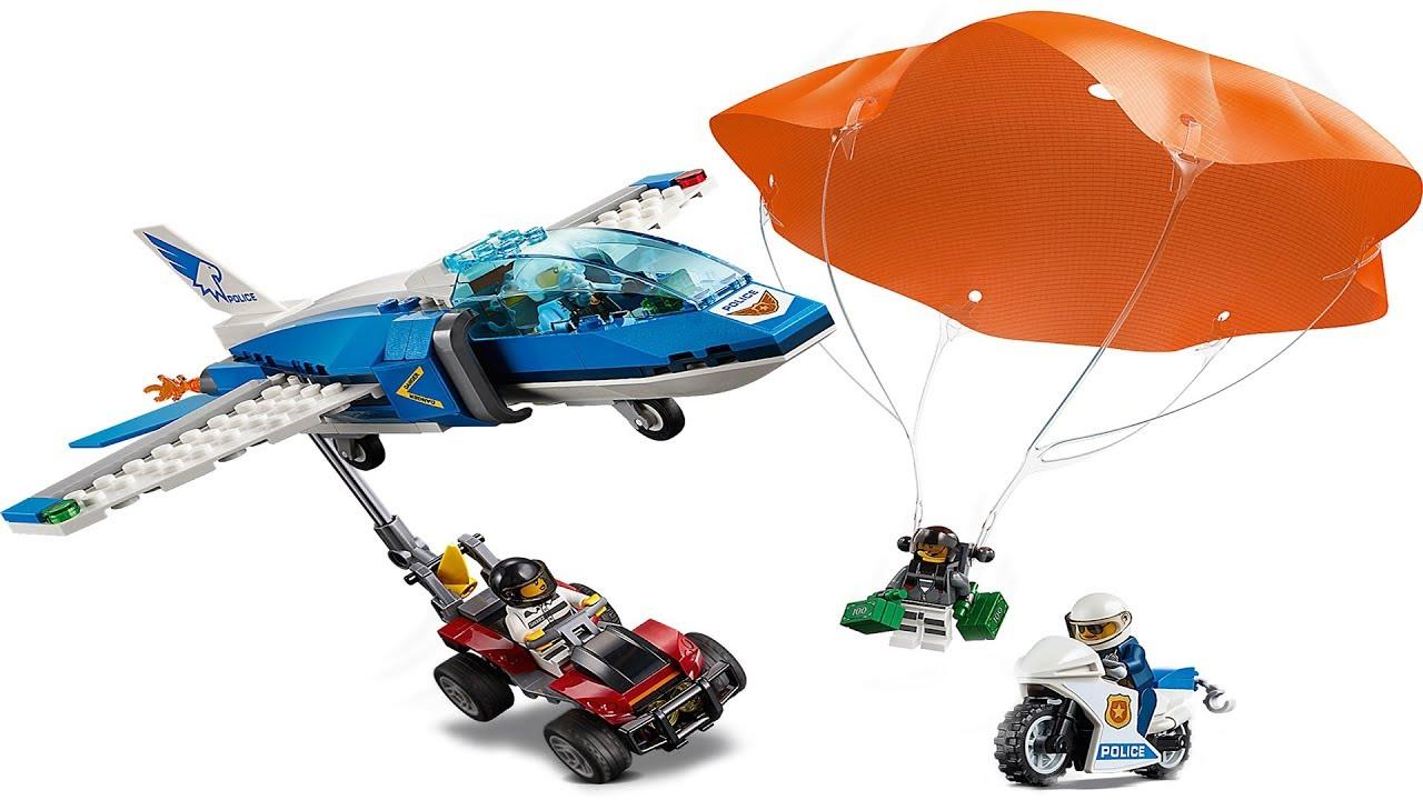 Lego City 60208 Sky Police Parachute Arrest - YouTube