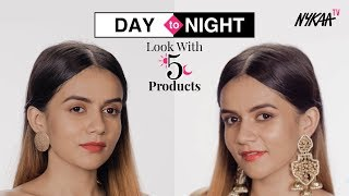 5 Product Challenge |  Day To Night Festive Look | Smashbox Cosmetics