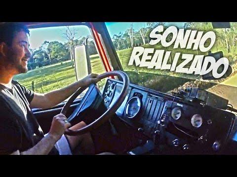 Eu dirigi um caminhão! - Scania 112 frontal - Nervosismo, alegria e freada brusca! - Ronco animal!