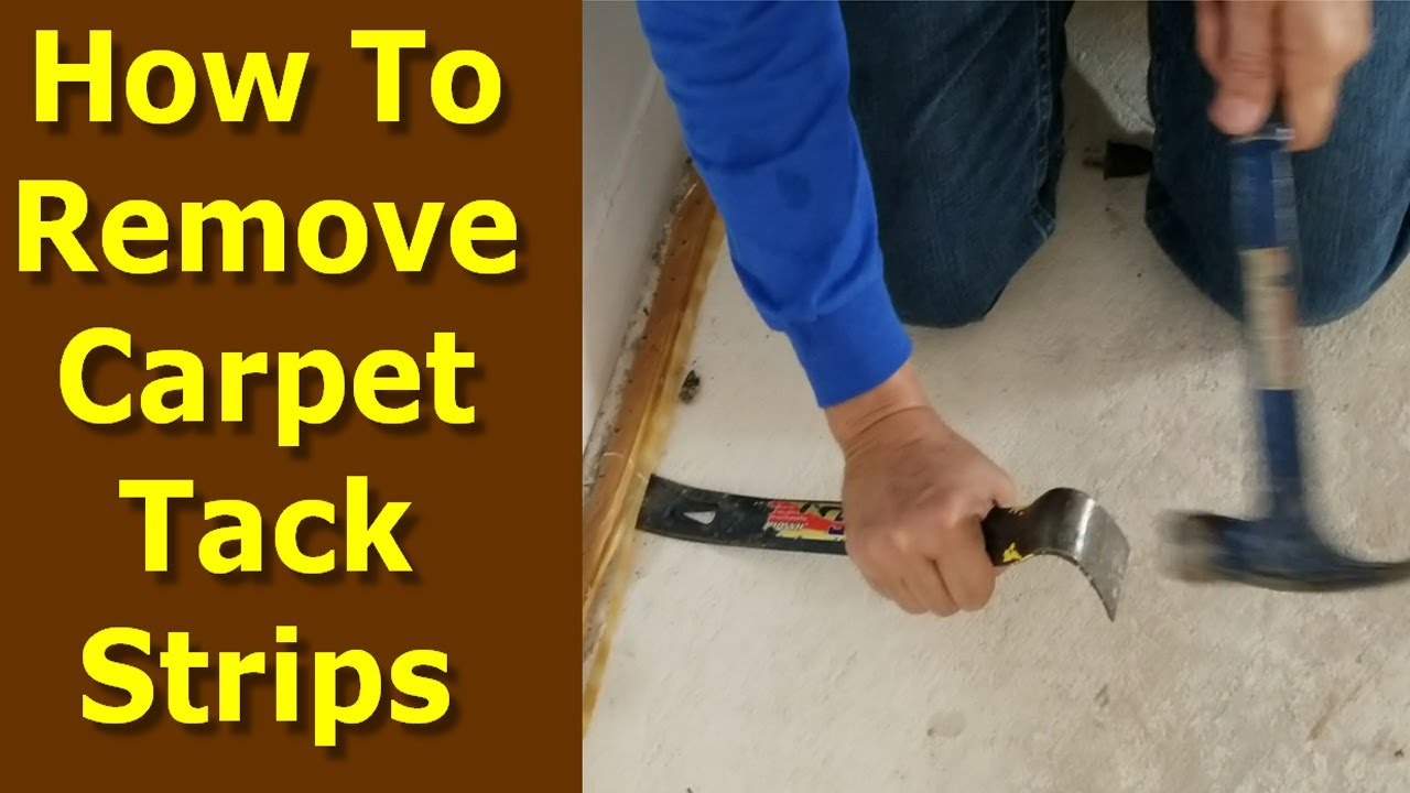 How To Remove Carpet Tack Strips From Concrete Floors You