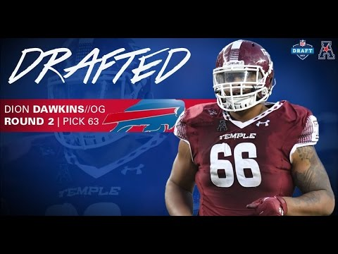 online store 1b8e0 ce048 Buffalo Bills Select Temple's Dion Dawkins 63rd Overall in 2017 NFL Draft