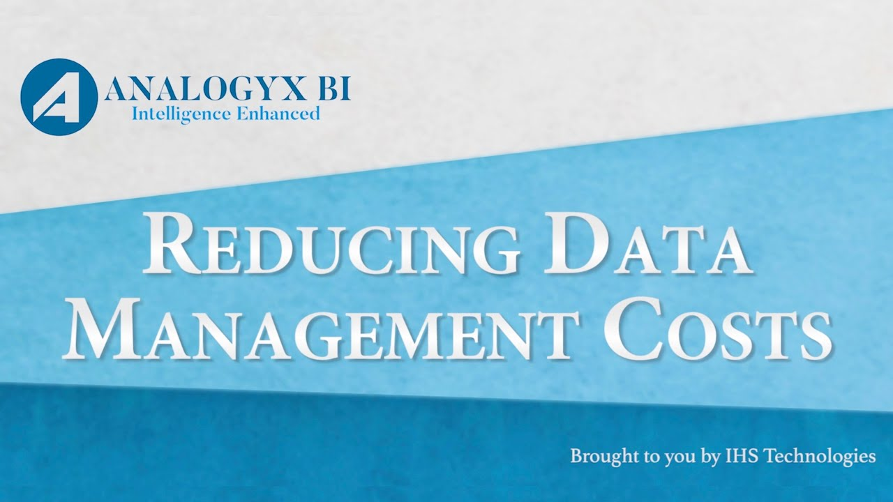 Reducing Data Management Costs with Analogyx BI