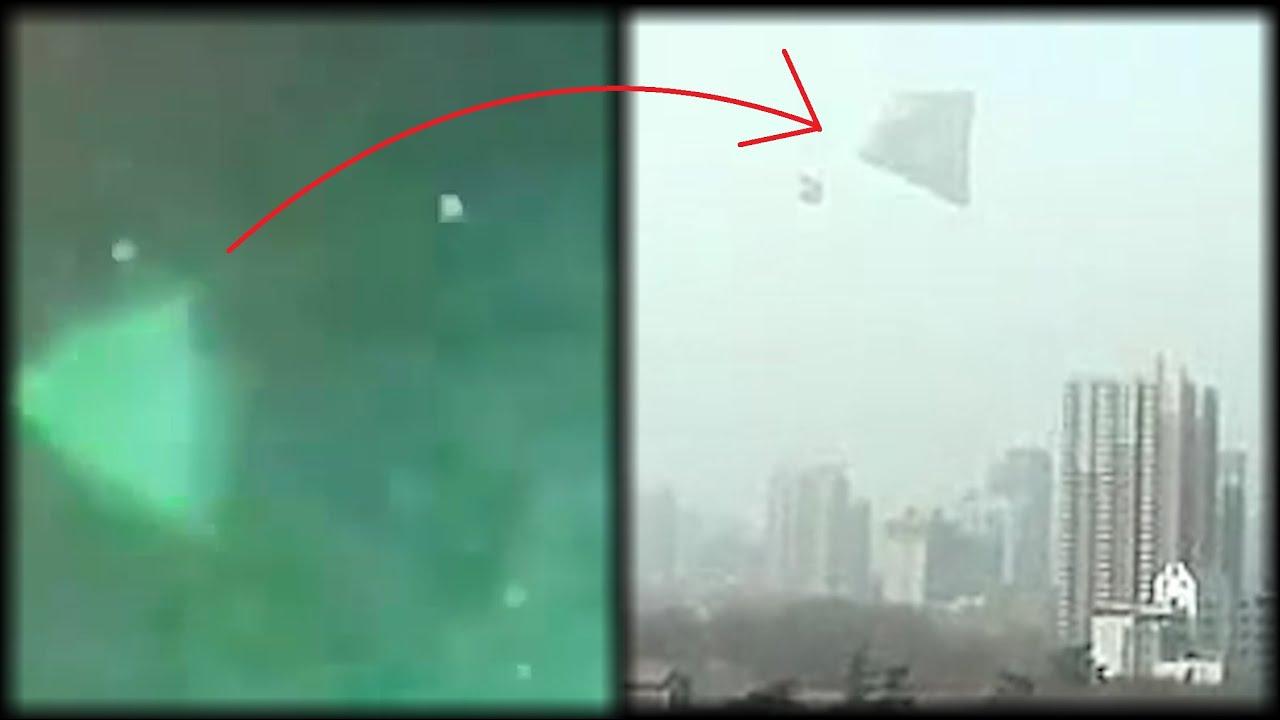 2010年中国西安巨大金字塔形UFO与五角大楼承认的ufo视频如出一辙
