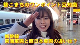 簪こまちのワンポイント豆知識 『新幹線JR東海車両とJR西日本車両の違いは?』
