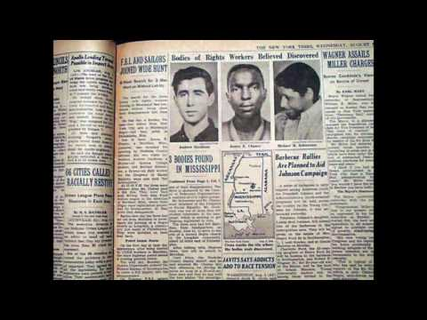 Slain civil rights workers found August 04 1964