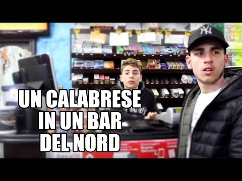 UN CALABRESE IN UN BAR DEL NORD.