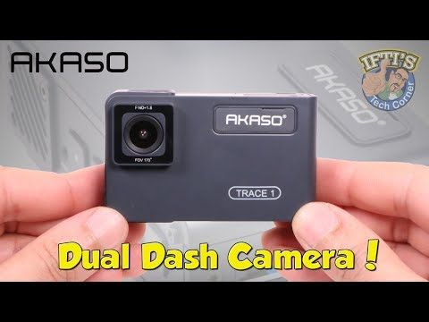 AKASO Trace 1 - Dual Dash Camera - Record INSIDE The Vehicle! : REVIEW