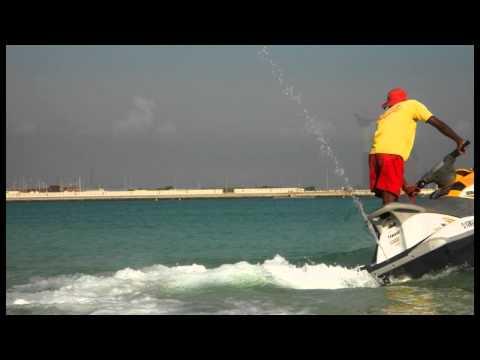 jet ski performance by Sri Lankan Life Savers. (KALSA)