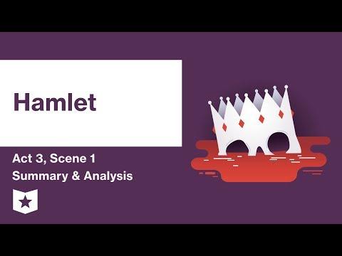 Hamlet by William Shakespeare   Act 3, Scene 1 Summary & Analysis