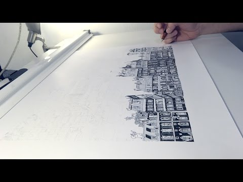 S6 Timelapse: Stunning Parisian Cityscape Drawing w/ Guillaume Cornet