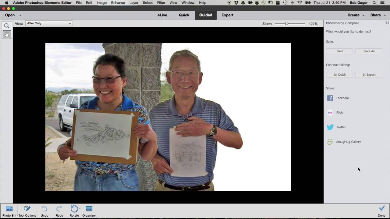 how to combine multiple photos into one in photoshop