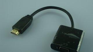 ПЕРЕХОДНИК ИЗ HDMI В VGA + TEST (AliExpress)(Link: http://ali.pub/vkjpt., 2015-03-20T16:00:37.000Z)