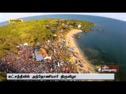 Katchatheevu festival: HeliCam Arieal View