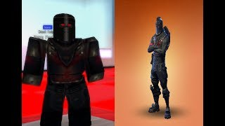 Roblox How To Be Black Knight From Fortnite In Robloxian HighSchool