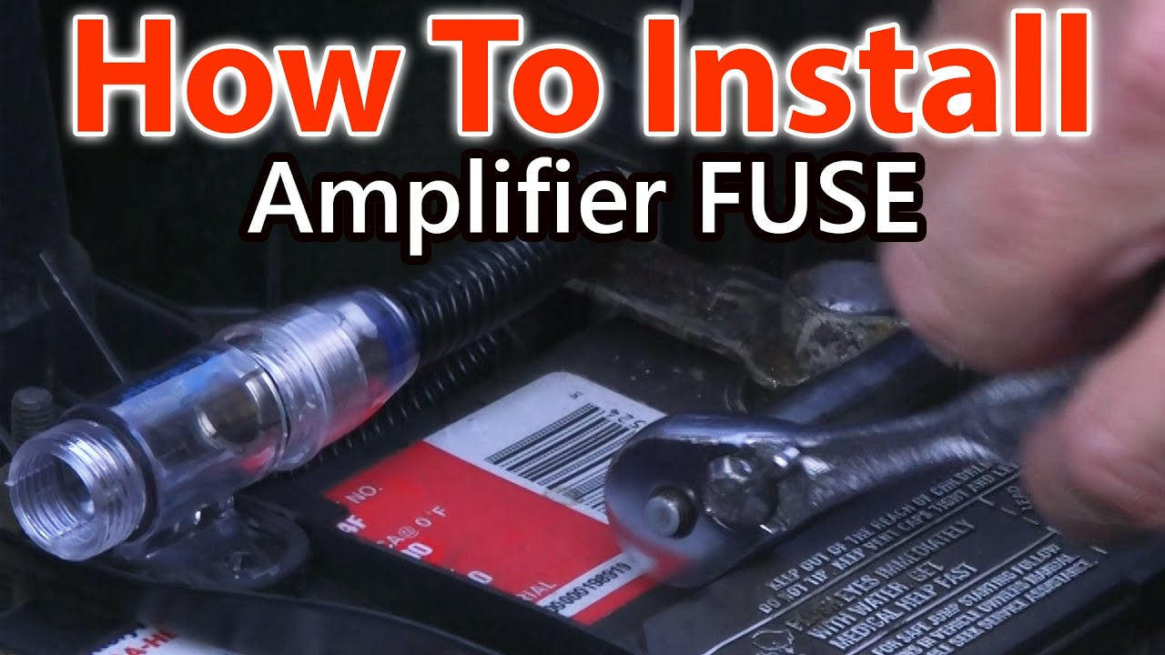 maxresdefault how to wire a fuse for car amplifier youtube how to connect a wire to a car fuse box at crackthecode.co
