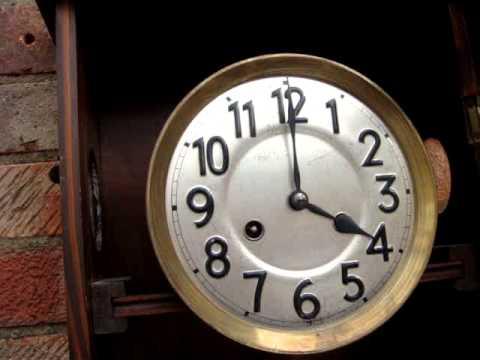 Antique Vintage Old Junghans German Wall Clock Working