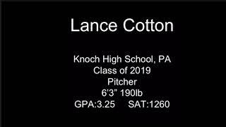 Lance Cotton Knoch High School Baseball Pitcher Class of 2019