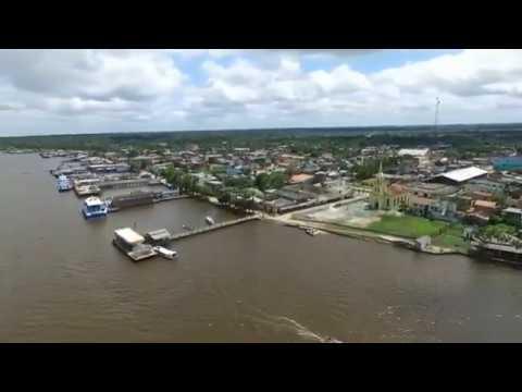Imagens aéreas da cidade de Curralinho no arquipélago do Marajó no Pará