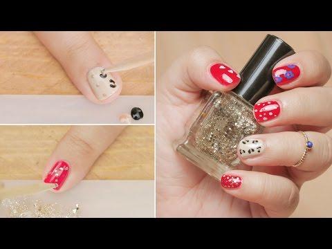 5 Nail Art Design Using Toothpick - Nail Art DIY - Beginners Series - Glamrs
