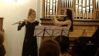 Hindemith. Kanon sonate for two flutes