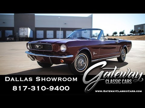1966 Ford Mustang Convertible For Sale Gateway Classic Cars Dallas #1149