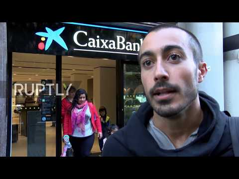Spain: Ka-Ching! Catalans withdraw money from ATMs in protest against Spanish banks
