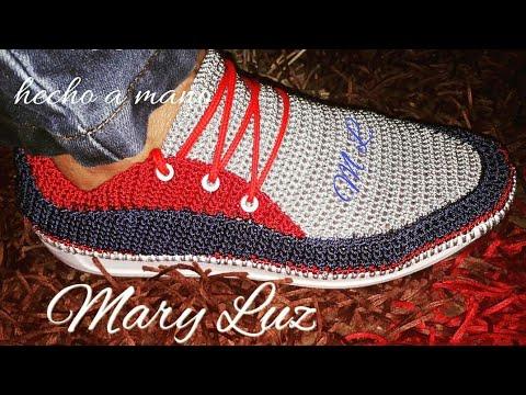 Zapato Para Hombre Tejido En Crochet Modelo Jairo Youtube