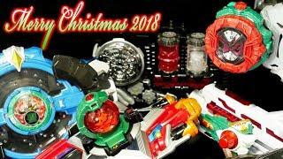 「メリークリスマス!」 サンタクロース ケーキ 変身アイテム 仮面ライダー スーパー戦隊 ウルトラマン 2018ver Merry Christmas Santa Claus Cake Items