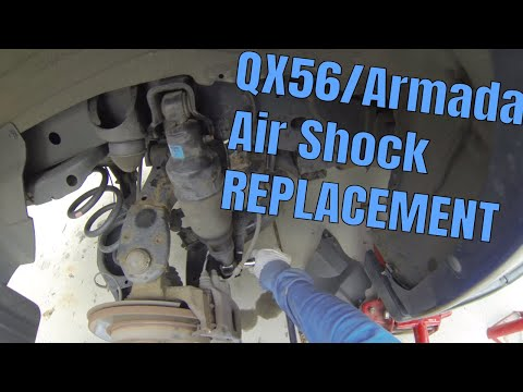 How to Replace Infiniti QX56 2004-2010 Rear AIR RIDE Suspension | Nissan Armada 2003-2016 Shocks