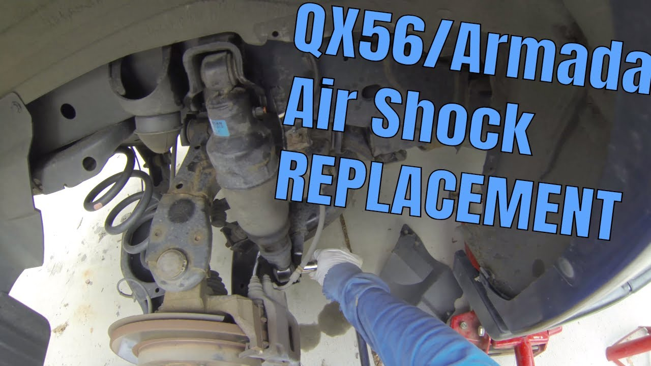 medium resolution of how to replace infiniti qx56 2004 2010 rear air ride suspension nissan armada 2003 2016 shocks