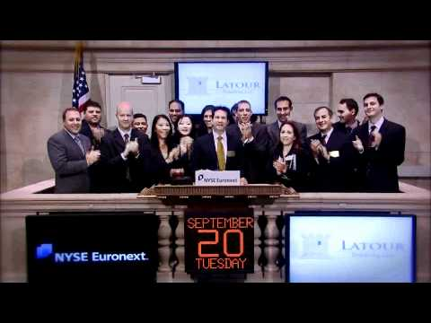 20 Sept 2011 Latour Trading, LLC Celebrates NYSE and Amex Equity Membership rings NYSE Opening Bell
