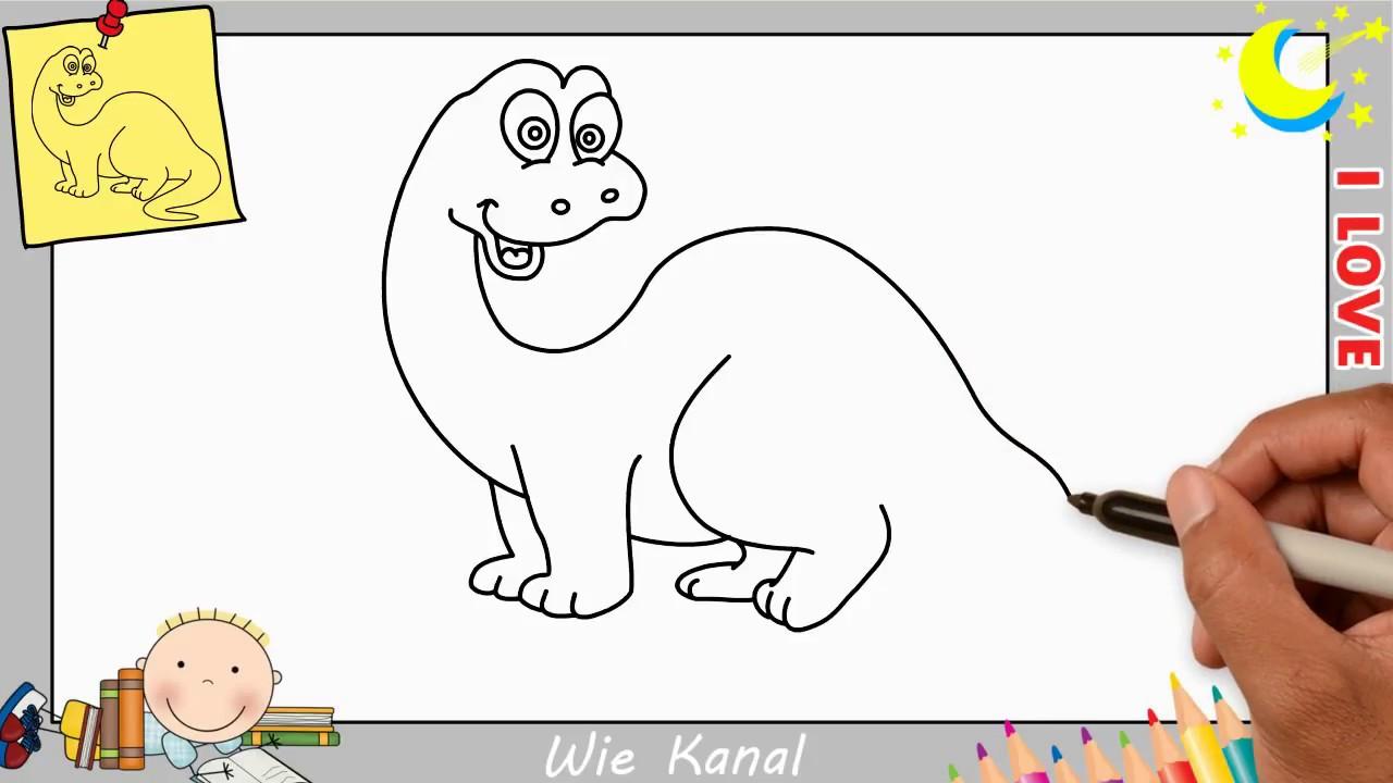 Dinosaurier zeichnen lernen einfach schritt für schritt für anfänger &  kinder 8