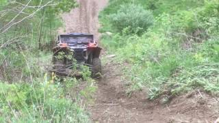 scrubgrass 2017 can am maverick x3 before the roll over going down frank s hill