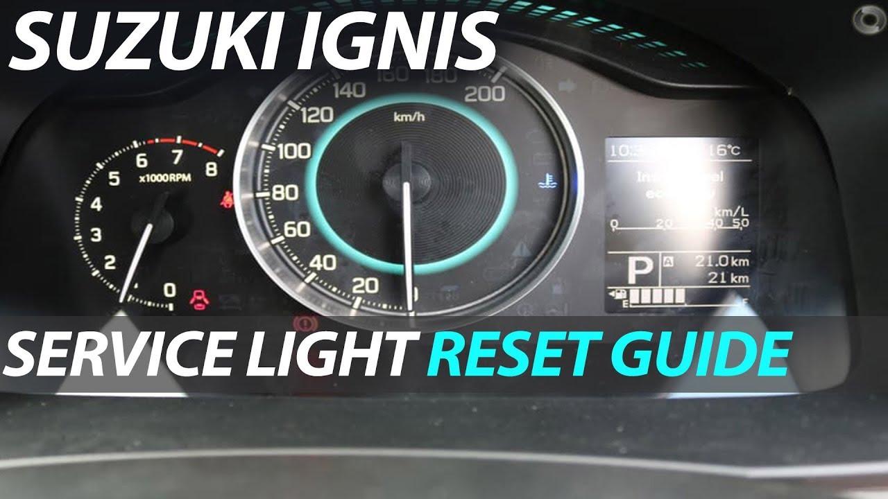 Suzuki Ignis - Oil Light Service Light Reset
