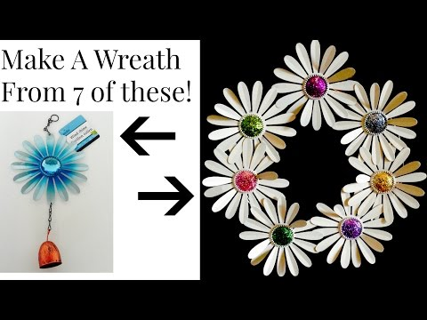 DOLLAR TREE Metal Daisy Wreath DIY