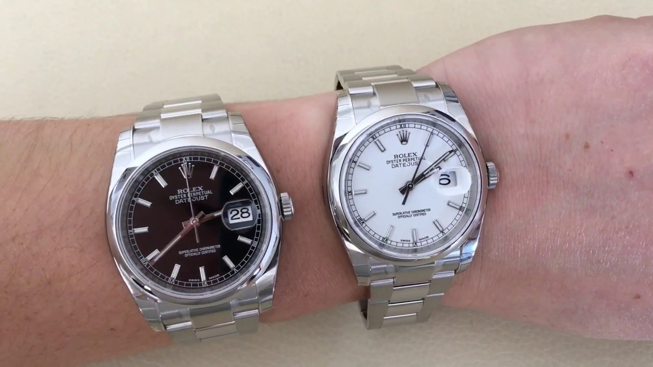 rolex datejust oyster black vs white dial 116200 youtube