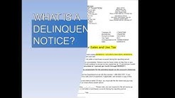 What is a Delinquency Notice?