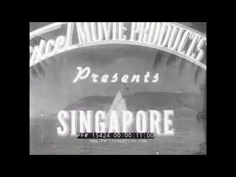 1930s SINGAPORE TRAVELOGUE FILM   BRITISH COLONIAL ERA  RAFFLES HOTEL (SILENT FILM) 15424